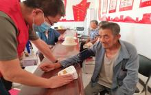 阿旗爱心家园志愿者协会开展义诊进乡村活动