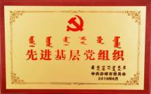 """爱心家园党志部荣获""""赤峰市先进基层党组织""""荣誉称号"""